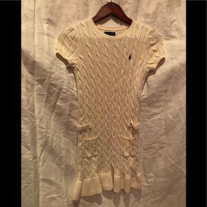 Girls Ralph Lauren sweater dress off white cream M